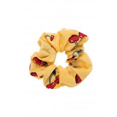 Κίτρινα Κεράσια Scrunchie Σούρα Μαλλιών