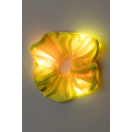 Loomies Scrunchie Κίτρινο με Φωτεινά Στοιχεία