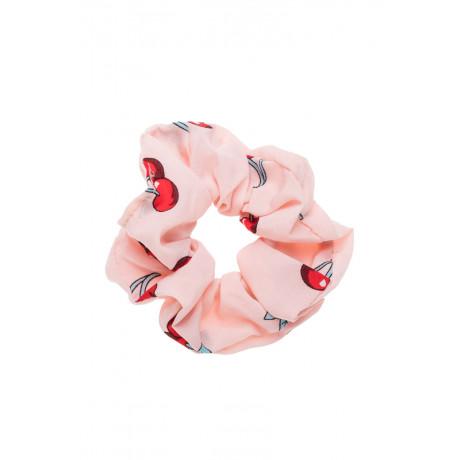 Ροζ Κεράσια Scrunchie Μαλλιών