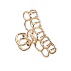 Χρυσαφί Μεταλλικό Κλάμερ Κύκλοι - Κοκκαλάκι Μαλλιών