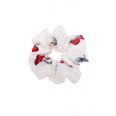 Άσπρα Κεράσια Scrunchie Μαλλιών
